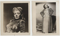 Lot of 8 Vintage 1940s Movie Star Mailaway Photos - 7 are 4x5 incl ANN SHERIDAN