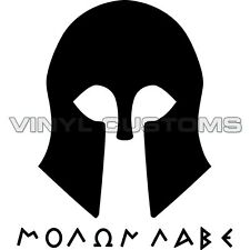 "Molon Labe Vinyl Decal Sticker Die-cut Come and take them Gadsden - 6"" in."