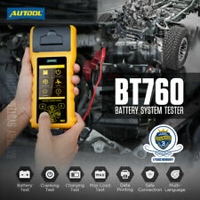 AUTOOL BT760 12V 24V Car Battery Tester Cranking & Charging Testing With Printer