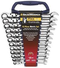 Gearwrench 9901D 12 Piece Metric Flex Head Combination Ratcheting Wrench