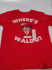 Where's Waldo t shirt red Youth XL red cartoon beloved children's book New