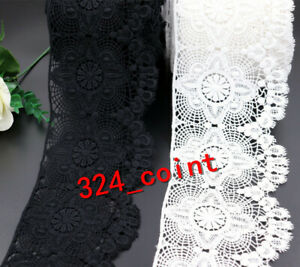 H326 1yd Vintage Crochet Lace Trim Ribbon with Scalloped Edge 11cm Wide Sewing