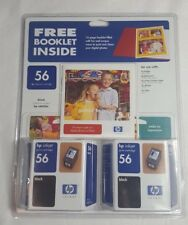 HP 56 Black Ink Sealed 2 Pack Genuine and Idea Book Install Date May 2005