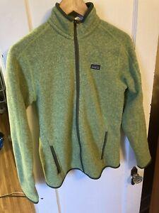Patagonia Green Better Sweater Jacket Women Medium Fleece