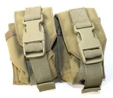 Eagle Allied Industries SFLCS MJK Tan Buckle Double Frag Grenade Khaki Pouch