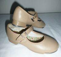 Capezio Girls Size 13. Caramel Mary Jane 3800C Tap Shoes TAN color.