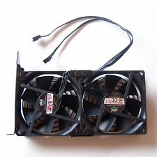 Cooler Master 90mm Double Cooling Fan PC PCI GPU Video Card 3 Pin Connectors F20