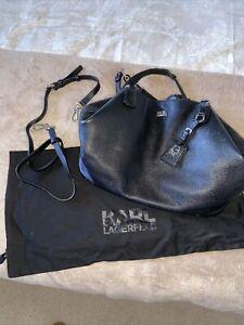 karl lagerfeld bag black With Dust Bag