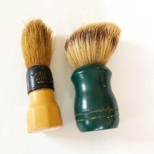 Vintage lot of 2 Shaving Brushes Heldtite Made in USA