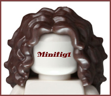 Lego Dark Brown Minifig Hair Female Long Tousled with Center Part 20595 rare