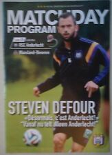 Programm Belgien 24.8.2014 RSC Anderlecht - Waasland Beveren