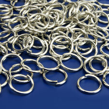 100 Stück 5mm Biegeringe Silberfarben Binderinge Ösenringe Verbindungsringe