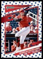 2021 Donruss Baseball Base Independence Day #196 Nicholas Castellanos - Reds