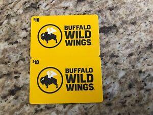 Buffalo wild wings gift cards $20.00