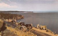 TWO HARBORS MINNESOTA~LAKE SUPERIOR FROM SILVER CREEK CLIFF~POSTCARD 1940s