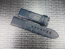 Blue 22mm Alligator Grain Leather Strap Watch Band Timewalker MONTBLANC 22 mm x1
