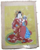 """Paul Jacoulet Daikoku Woodblock Print 14"""" x 16"""""""