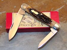 QUEEN CITY 2012 #376 SWELL CENTER JACK KNIFE, GENUINE STAG, MINT, 1 of 50, NIB