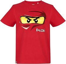 Lego NINJAGO original + neu Jungen Gr.128 rot KAI T-Shirt Legowear P06-5