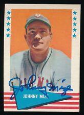 1961 Fleer Autographed -#63 Johnny Mize (Cardinals, Yankees) 00004000  *Hof* (d.1993)