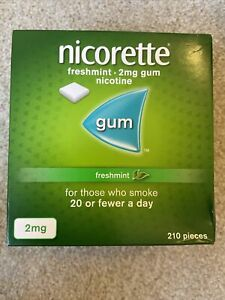 Nicorette Chewing Gum Freshmint 2mg - 210 Pieces Stop Smoking Aid