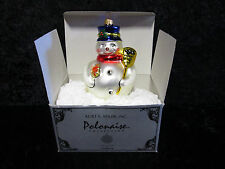 Kurt S. Adler Polonaise Snowman with Parcel Ornament GP313 NEW IN BOX