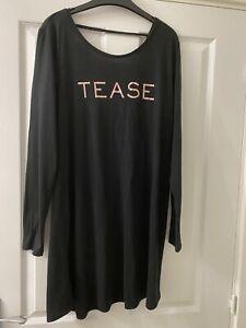 VICTORIAS SECRET Black 'Tease' Night Dress. Size Large Good Condition RRP £25