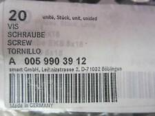 Mercedes Benz SMART CAR ForTwo License Bracket Screw Set of 6 Six A0059903912