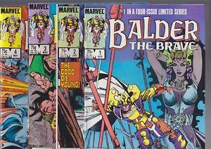 Balder The Brave #1-4, 1985, Marvel Comics, full set mini-series Thor Simonson