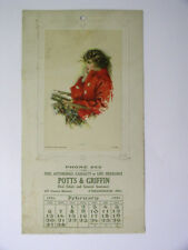 1921 Potts & Griffin Real Estate/Insurance Frederick Md Advertising Calendar