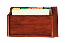 """Wooden Mallet Single Square Bottom Legal Size File Holder Mahogany 3""""x17""""x11"""""""