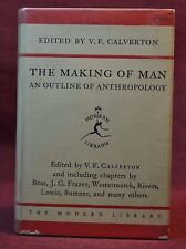 Classic Modern Library 149 Making of Man Outline of Anthropology Rare Binding