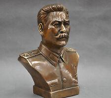 6'' Russian Leader Joseph Stalin Bust Bronze Statue