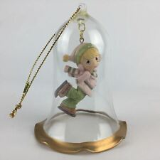 1994 Precious Moments Merry Dreams Ornament Holiday Ice Skater