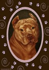 Paws Garden Flag - Orange American Pit Bull Terrier 174061