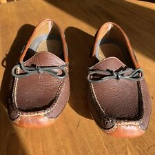 LL Bean Mens Double Sole Brown Leather Mocs Driving/Camping Size 9D