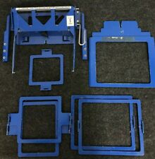 Used Lot - Hirsch Embroidery Machine Tubular Clamping System With Windows (Blue)