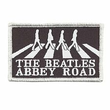 The Beatles Abbey Road Black White Logo Band Iron Sew On Patch Badge Official