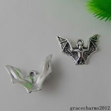 38x Vintage Silver Alloy Bloodsucking Bat Charms Pendants Crafts Findings 50879