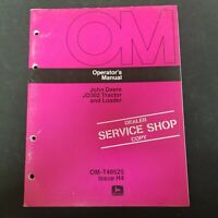 John Deere JD302 Tractor and Loader Operator's Manual OM-T48525 Issue H4