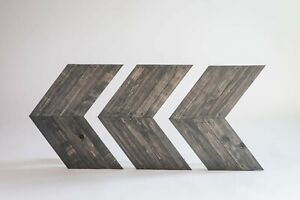 Darla's Studio 66 Antique Gray Stained Arrows/Chevrons- Set of 3