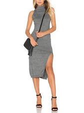 Minkpink Temptation High Polo Neck Marle Grey Sleeveless Midi Dress Xs  M L NEW