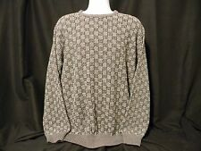 Mino Milano Men's Long Sleeve Sweater X Large Italy Grey and Black Squares