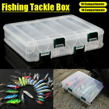 10/14 Compartments Fishing Tackle Accessories Storage Pliers Jig Hooks Box