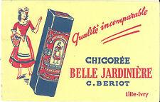Buvard publicité BELLE JARDINIERE chicorée Lille Ivry