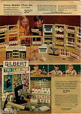 1972 ADVERT Gilbert Deluxe Modular Chemistry Sets Astronomy Space Globe