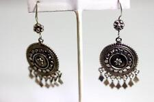 Sterling Articulated 925 Earrings - 10669 Fun and Beautiful Disc and Dangle