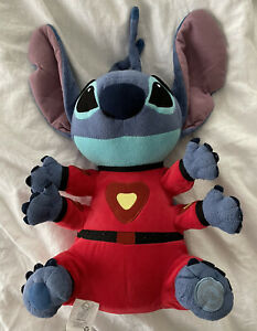 """Disney Store Lilo & Stitch Plush Stuffed Toy Red Alien Space Suit 4 Arms 16"""""""
