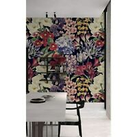 Peony Colorful Meadow Floral Non-Woven wallpaper Traditional watercolor Mural
