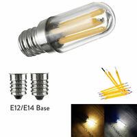 Mini E14 E12 LED Fridge Freezer Filament Light COB Dimmable Bulbs 1W 2W 4W Lamp
